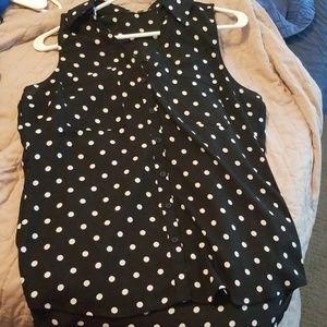 Polka Dot portofino shirt